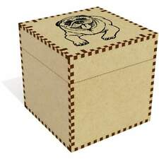 'Laughing Pug' Jewellery / Trinket Boxes (vJB0017204)