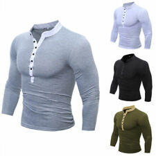 New Hot Men's Long Sleeve Casual Luxury Shirt Slim Fit T-shirt Shirts Tops w102