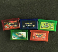 5 Pcs Pokemon Game Cards Carts For Nintendo Game Boy Advance GBA/GBM/SP/NDS/NDSL