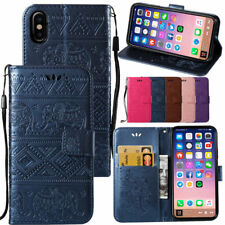 Elegant Embossed Leather Wallet Flip Stand Card Holder Case Cover For iPhone X 8