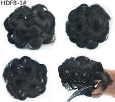 Womens Clip In Comb Flowers Design Hair Dish Buns Cover Hairpiece