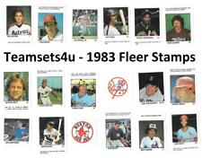 1983 Fleer Stamps Baseball Set ** Pick Your Team **