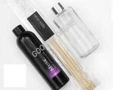 Silver Collar Clear Glass Bottle Diffuser Reeds and 200ml Diffuser Refill