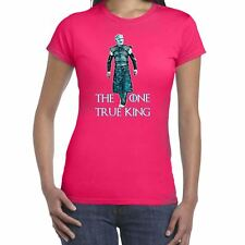 Womens Funny Slogans T Shirts-One True King-White Walker  -top gift for her