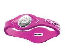 POWER BALANCE NEGATIVE ION ENERGY HEALTH BRACELET BAND - PINK - WHITE LETTERS
