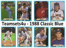 1988 Classic Blue Baseball Set ** Pick Your Team **