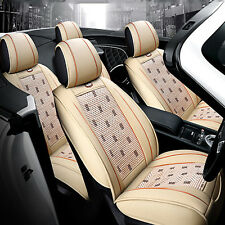Comfort PU Leather Ice Silk Car Seat Cover Chair Cushion Seat Mat Universal MWT