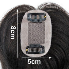 "3Layers Mono Base 2''x3"" Virgin Human Hair Topper Toupee Hairpiece For Womens"