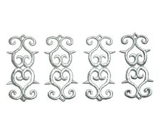 4 Silver Appliques Iron On Embroidered #27 Aust Seller Tutu Dance Costume Trim