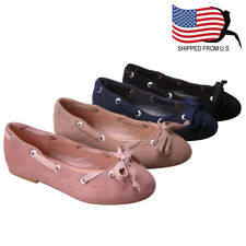 ShoeDx Girl's Slip On Bow Tie Ballerina Ballet Flats