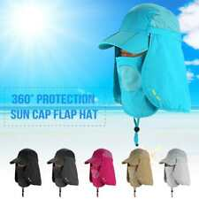 Baseball Cap Camping Hiking Fishing 360° Protection Ear Flap Sun Neck Cover I9P9