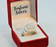 RAINBOW MOONSTONE JUNE  BIRTHSTONE 925 SILVER MENS RING #r0229 E7121