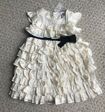 Baby Gap Infant Girls White Black Bow Dress New NWT Holiday Wedding Pageant