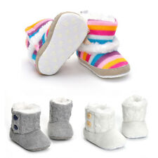 Baby Warm Winter Boots Shoes Fake Fur Lining Girls 0-18 Month Infant Toddler