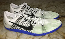 NIKE Zoom Matumbo 2 White Black Blue Mid Distance Track Spikes Shoes Mens Sz 13