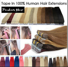 19colors In16-26inch 100% Remy PU Tape in Human Hair Extensions Skin Weft
