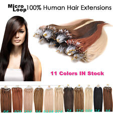 18-22inch 50g/100s Micro Ring Loop Remy 100% Human Hair Extensions 11colors
