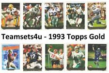 1993 Topps Gold Football Team Sets ** Pick Your Team Set **