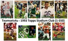 1993 Topps Stadium Club Football (1-550) Set ** Pick Your Team **