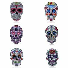 New Fashion Woman Printing Skull Head Collar Brooch Pin Lady Party Jewelry Gift