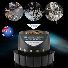 COIN COUNTER AUSTRALIAN SORTER AUTOMATIC MONEY COUNTING MACHINE BG