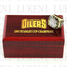 Year 1987 EDMONTON OILERS Stanley Cup Championship Solid Ring 10-13Size