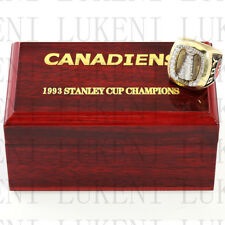 Year 1993 MONTREAL CANADIENS Stanley Cup Championship Solid Ring 10-13Size