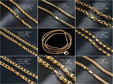 UK 18K GOLD FILLED 16'' - 30'' SNAKE CURB Belcher BOX 1MM to 6MM NECKLACE CHAIN