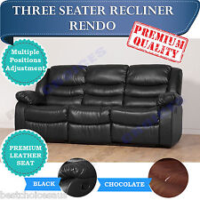 WHOLESALE BRAND NEW Recliner Sofa Lounge 3 Seater Bonded Leather - RENDO