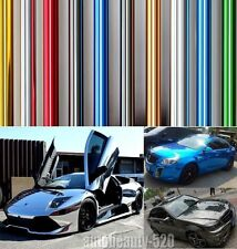 "12"" x 60"" Car Auto Glossy Mirror Chrome Vinyl Film Wrap Sticker With Bubble Free"