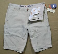 NWT MENS TOMMY BAHAMA LINEN THE DREAM KHAKI SANDS CHINO SHORTS SZ 30-40
