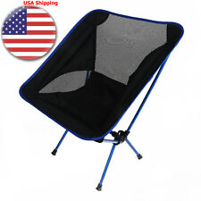 Portable Folding Fishing Chair Stool Beach Seat Folding Aluminum Moon Chair US