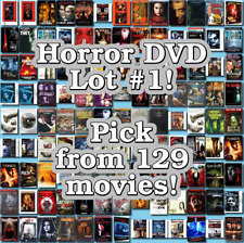 Horror DVD Lot #1: 129 Movies to Pick From! Buy Multiple And Save!