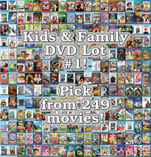 Kids & Family DVD Lot #1: 249 Movies to Pick From! Buy Multiple And Save!