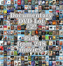 Documentary DVD Lot #2: 248 Movies to Pick From! Buy Multiple And Save!