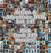 Action & Adventure DVD Lot #4: 249 Movies to Pick From! Buy Multiple And Save!