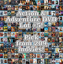 Action & Adventure DVD Lot #5: 209 Movies to Pick From! Buy Multiple And Save!