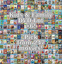 Kids & Family DVD Lot #6: 247 Movies to Pick From! Buy Multiple And Save!