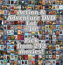 Action & Adventure DVD Lot #10: 242 Movies to Pick From! Buy Multiple And Save!
