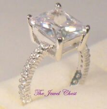 5.00 Ct Emerald cut Solitaire Diamond Engagement Eternity Ring White Gold