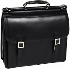McKlein USA HALSTED V series Leather Briefcase Double Compartment Laptop Case