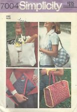 Simplicity 7004 Misses' Set of Bags   Sewing Pattern