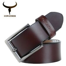 Men's cow genuine leather belts, metal buckle,square shape high quality Cowather
