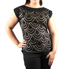 Womans Blouse, Top Plus size 2X, 18/20 or 3X, 22W/24W Black or Pink, Studded