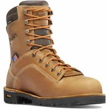 """Danner Men's Work Quarry USA 8"""" Leather Boots Distressed Brown 400G 17319"""