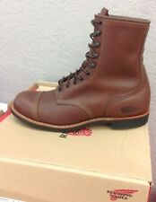 Indian Motorcycle Spirit Lake Red Wing Boots Brown Leather 2864412 - NEW