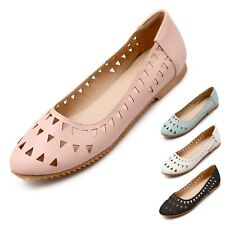 Slip Ons Rounded Toe Womens Summer Casual Ballet Flats UK 0.5-11