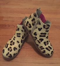 Mini Boden girls leopard boots size 36 - worn once!
