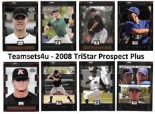2008 TriStar Prospect Plus Baseball Set ** Pick Your Team **