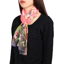 Chiffon Floral Pattern Thin Soft Long Scarf Wrap Shawl Scarves for Women